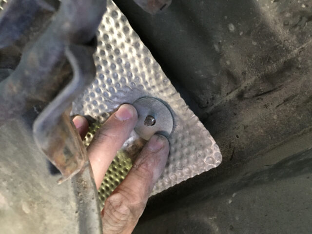 1.25-Inch Washer on top of Heat Shield