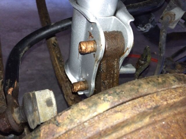 Lower bolts reinstalled with anti-seize