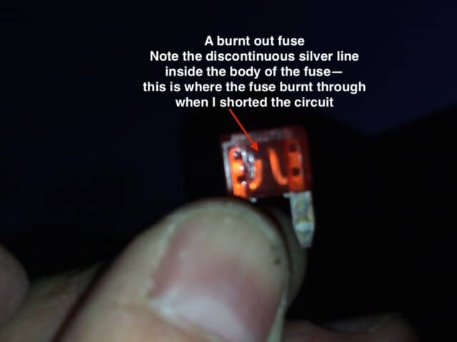Blown Mini Fuse