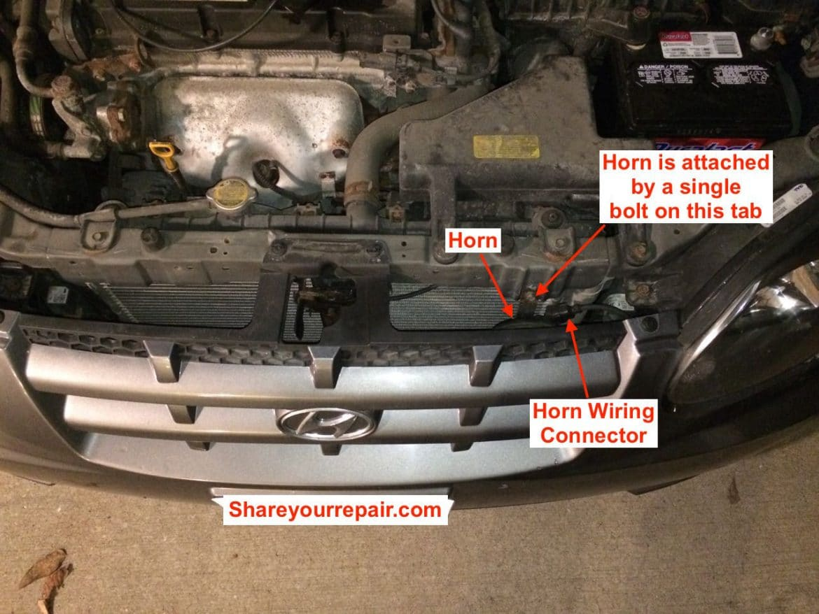 1999-2005 Hyundai Accent Horn Will Not Work