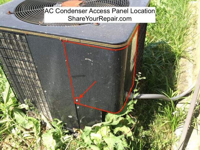 AC Condenser Access Panel Location