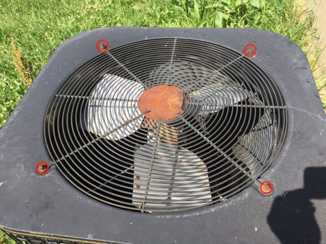 AC Condenser Grill Nut Locations