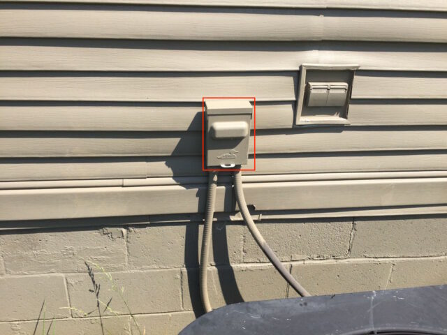 AC Condenser Disconnect Box Location