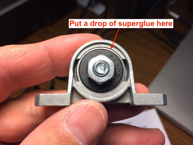 Put a drop of superglue on the seam of the ball-mount to fix it in place
