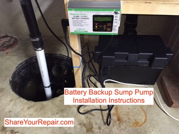 Battery Backup Sump Pump Installation Instructions