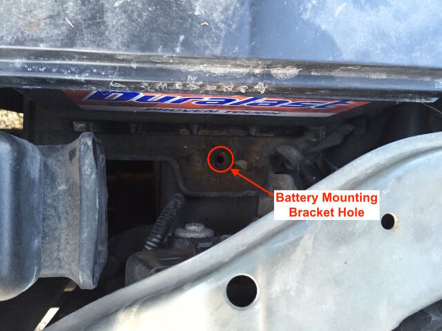 Reinstall the battery mounting bracket