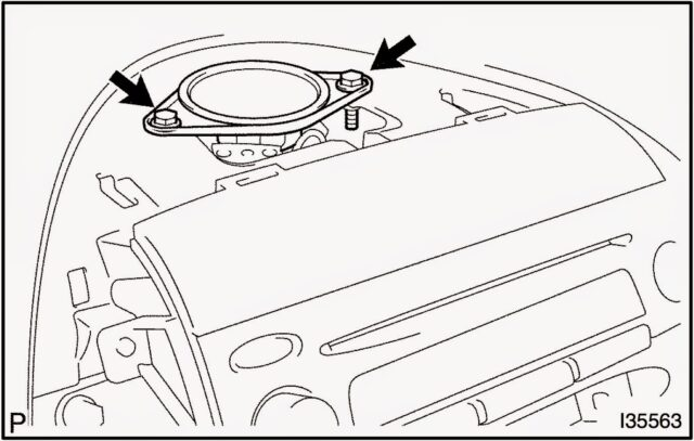 Center Speaker Removal 640x407 how to replace the stereo on 2004 2010 toyota sienna share your  at crackthecode.co
