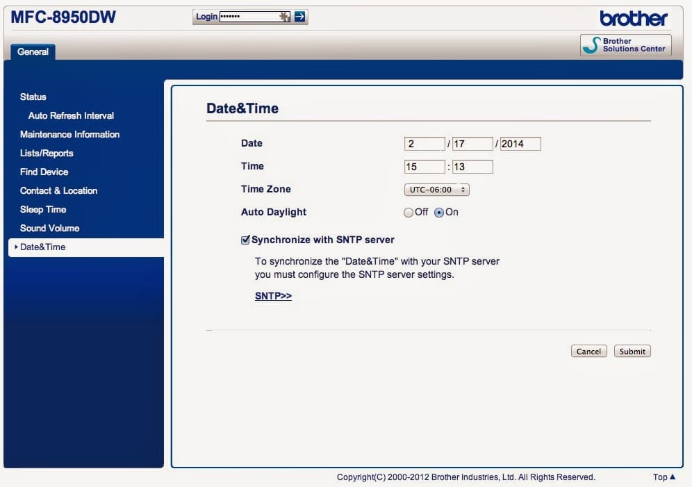 date and time page on brother printer   share your repair