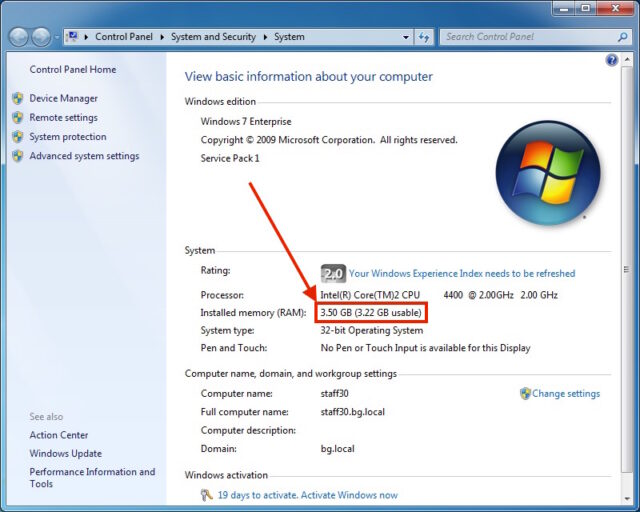 Dell 320 RAM Upgrade-Windows & Reports the Additional RAM