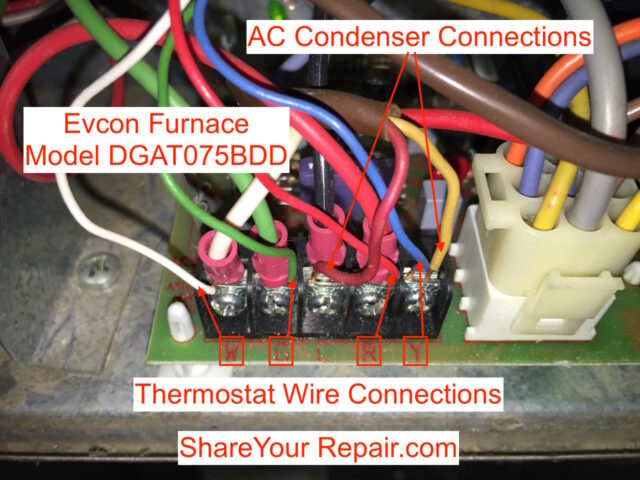 thermostat wiring troubleshooting share your repair thermostat connections to furnace control board