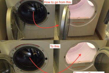 How to Reverse GE Dryer Door