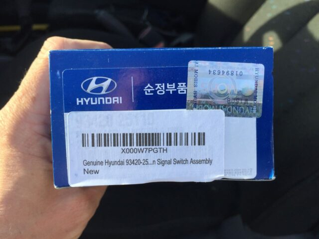 Hyundai Signal Switch Assembly 93420-25110 in Box