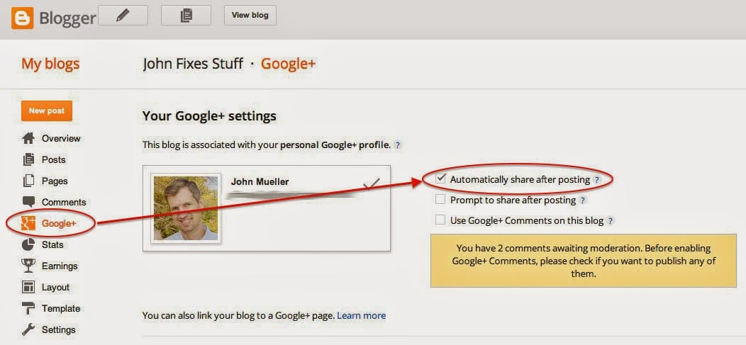 google blogger share settings   share your repair