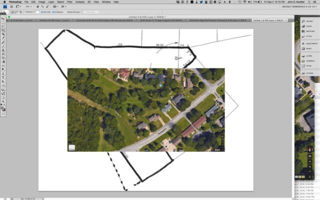Satellite Imagery Pasted Over Plat Border