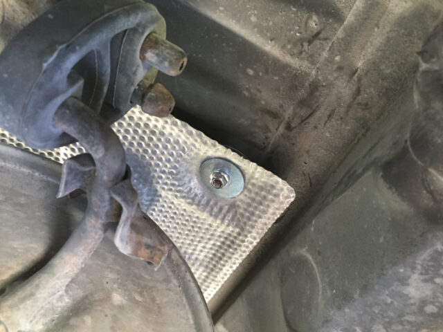Heat Shield Bolted Down