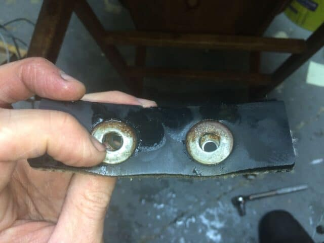 Large washers on the other side