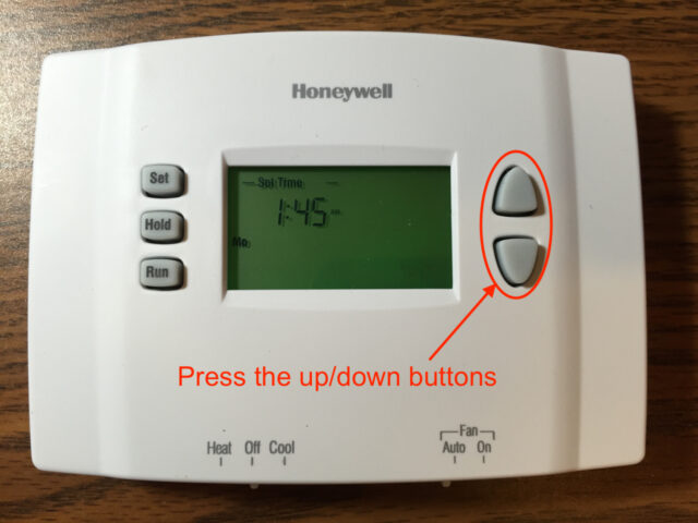 Honeywell RTH2300 Thermostat Up-Down Arrow Buttons