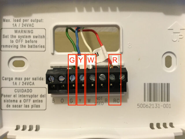 Wiring Diagram For Honeywell Th5220d : Honeywell th d wiring diagram thermostat