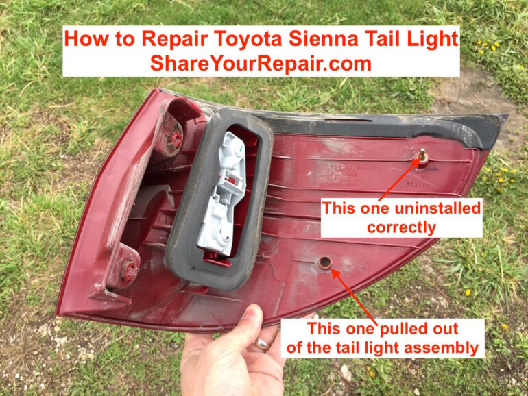 How to Repair Broken Toyota Sienna Tail Light