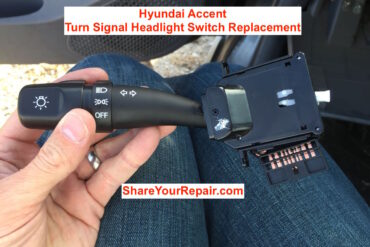 How to Replace Hyundai Accent Turn Signal Headlight Switch