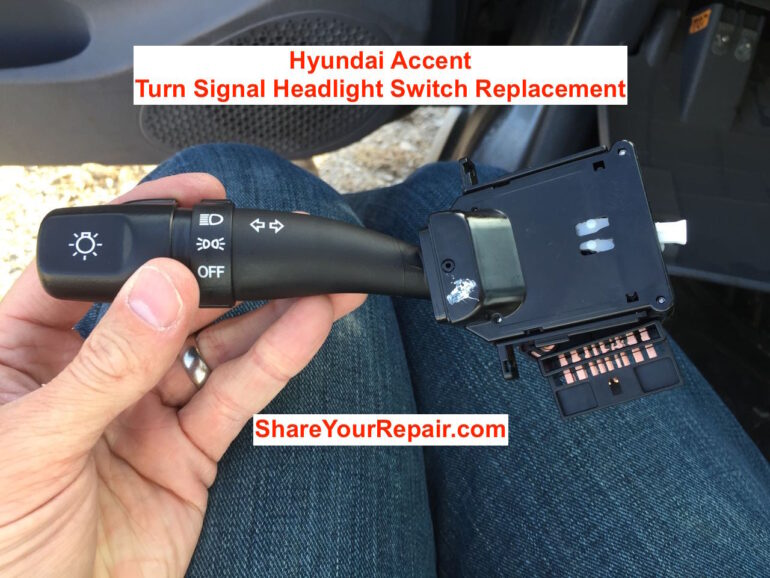 How To Replace Turn Signal Headlight Switch On Hyundai Accent