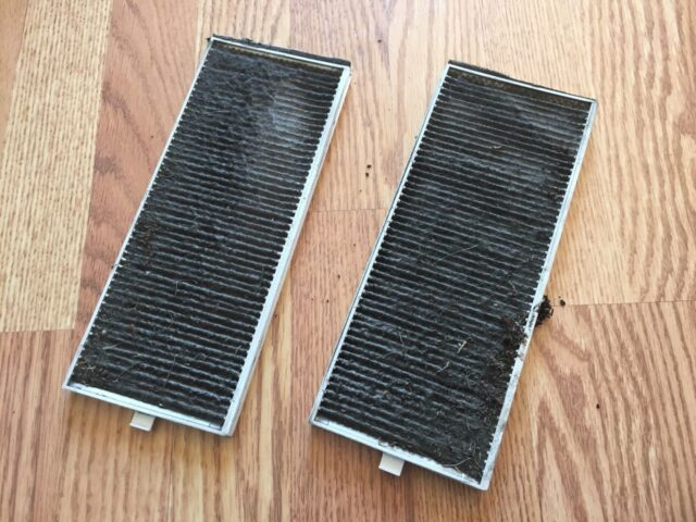 Two very dirty air filters