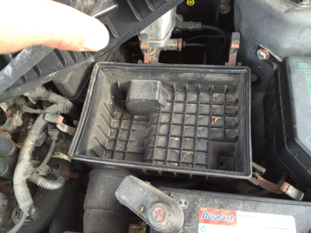 Air Filter Removed