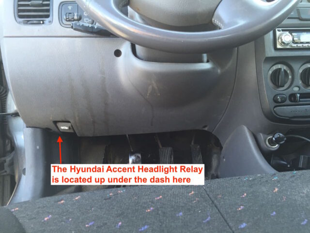 Location to look for the headlight relay
