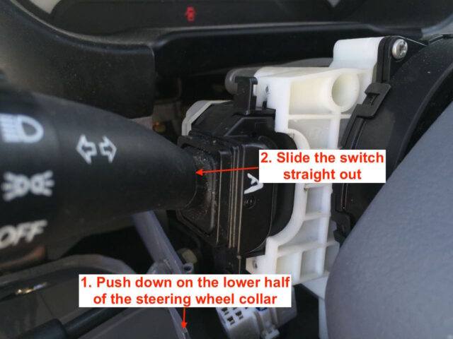 Turn Signal Lighting Switch Removal