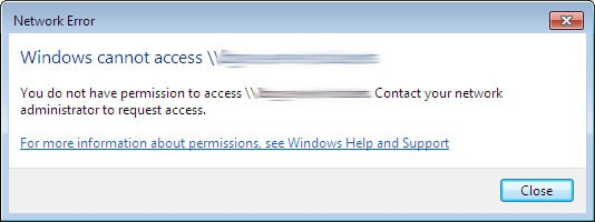 Installing Goldmine Windows Cannot Access Network Drive