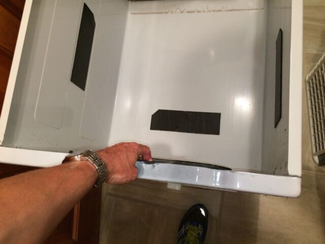 Kenmore 90 Series Washer Fills Slowly-Lift up the Front Edge of Washer Housing