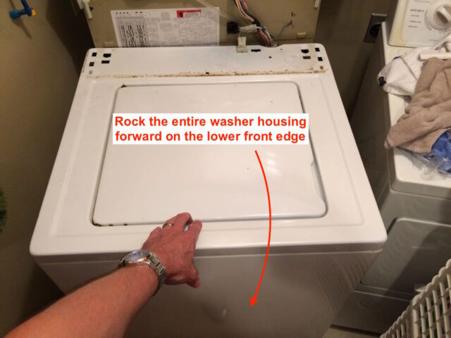 Kenmore 90 Series Washer Fills Slowly-Removing the Washer Housing Step 1