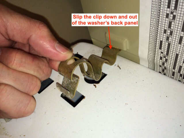 Kenmore 90 Series Washer Fills Slowly-Spring Clip-Slip Back end Out