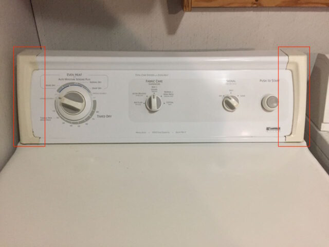 Kenmore Elite Control Bezel Location