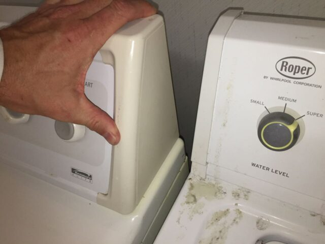 Kenmore Elite Dryer Control Panel End Cap Replaced