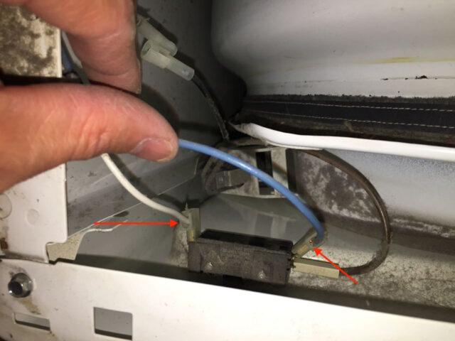 Kenmore Elite Dryer Door Lamp Switch Connectors Reinstalled