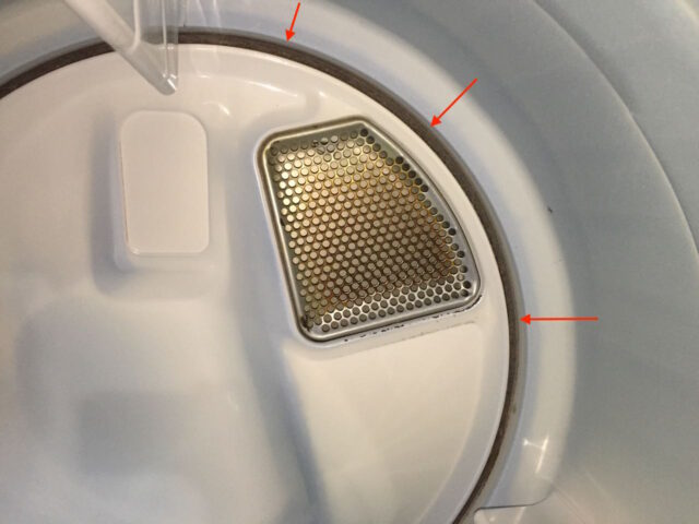 Kenmore Elite Dryer Drum Reinstalled-Back Edge View Inside