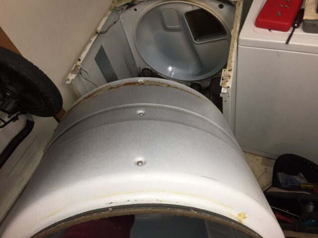 Kenmore Elite Dryer Drum Removal