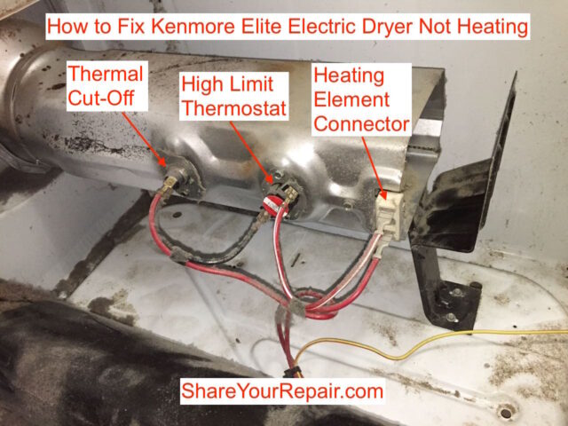 Kenmore Elite Dryer Heater Assembly Components