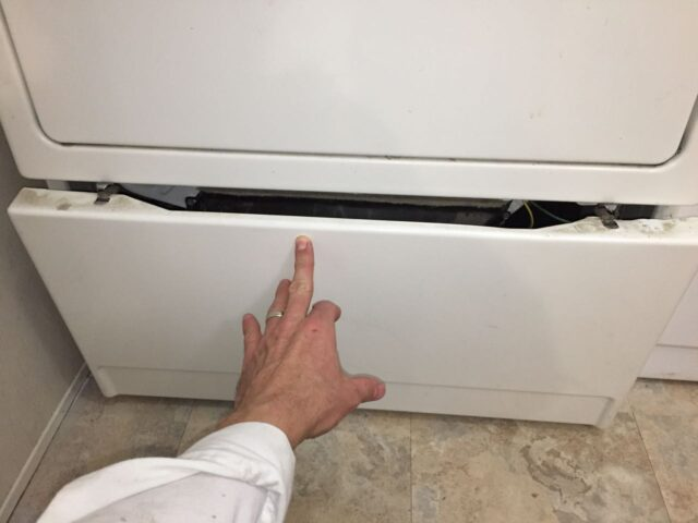 Kenmore Elite Dryer Latching Lower Panel in Place