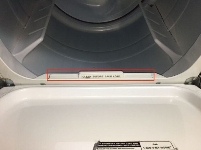 Kenmore Elite Dryer Lint Trap Reinstalled
