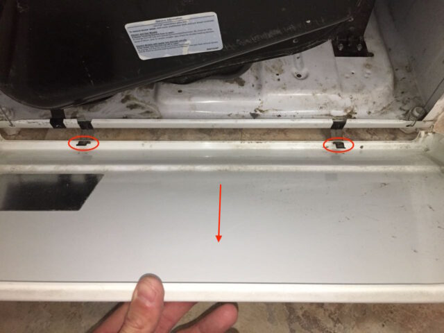 Kenmore Elite Dryer Lower Front Panel Removal