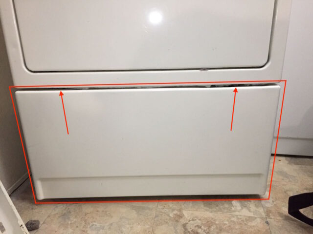 Kenmore Elite Dryer Lower Front Panel Spring Clip Locations