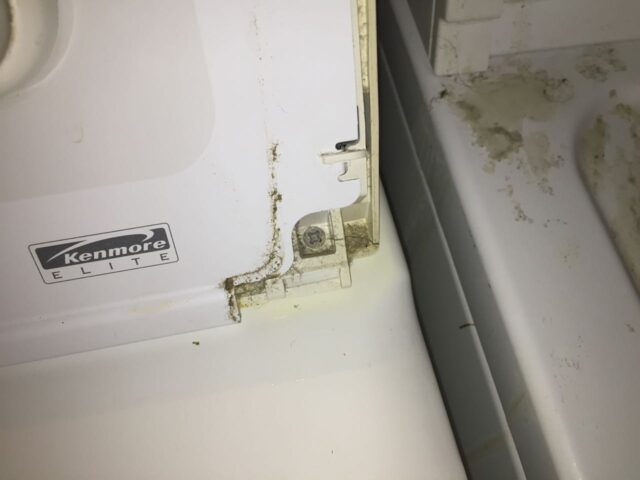 Kenmore Elite Dryer Right Control Panel Screw Reinstalled