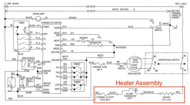 Heater Assembly Schematic