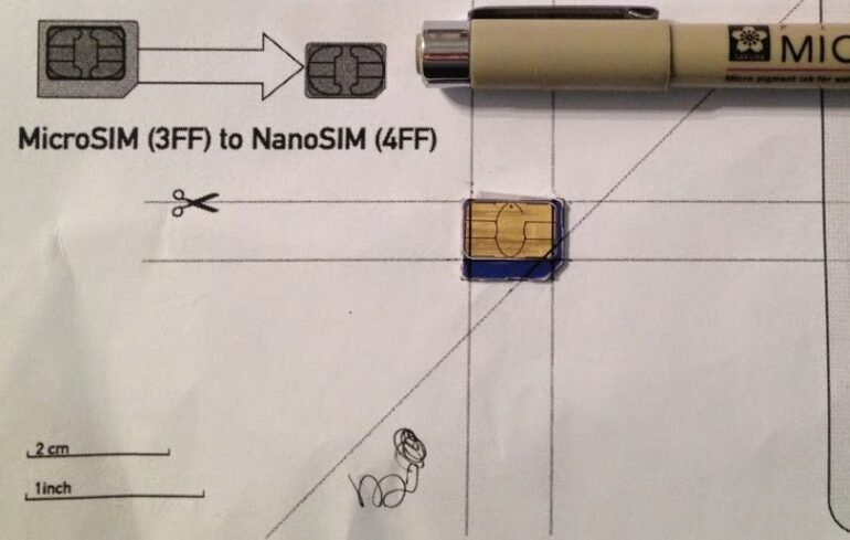 How To Cut A Micro Sim Into A Nano Sim