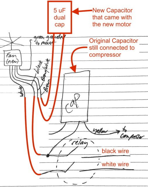 New AC Condenser Fan Motor Schematic 507x640 ac fan motor wiring diagram ac motor wire colors \u2022 free wiring ac condenser fan motor wiring diagram at crackthecode.co