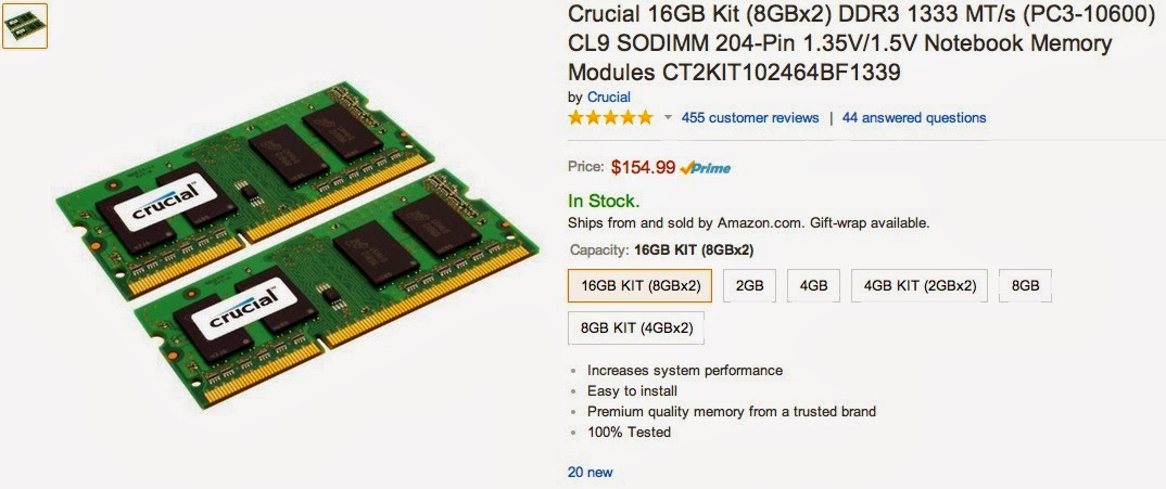 Ram Details On Amazon Website Share Your Repair