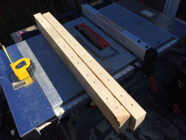 Rip boards to width with a table saw