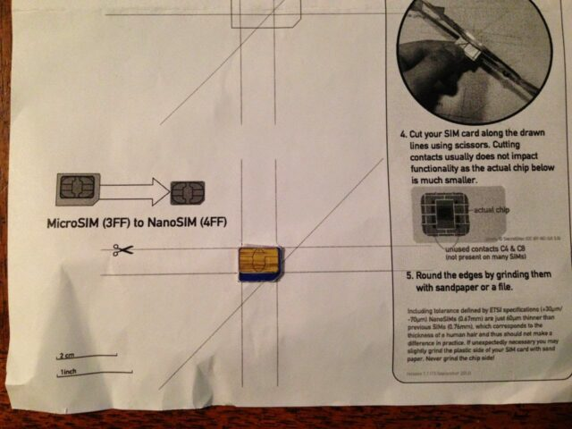 how to cut a micro sim into a nano sim share your repair